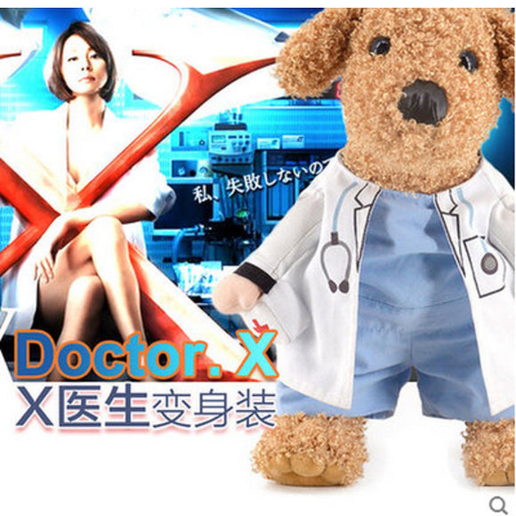 Halloween  Pet Costume Dog Cat Docter Costume Outfits