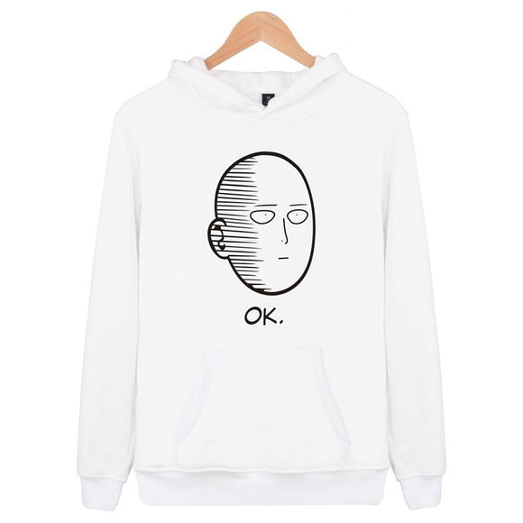 Unisex Saitama Hoodies One Punch Man Zip Up  Jacket Sweatshirt