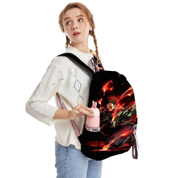Demon Slayer Big Capacity Youth Teenagers 3D Backpack