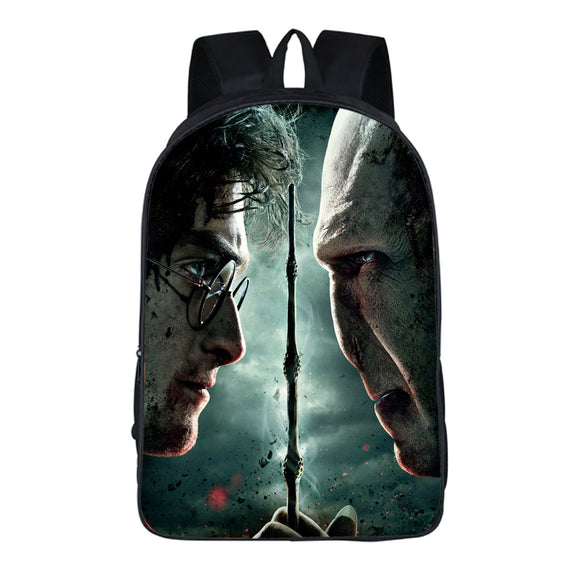 Harry Potter 3D Print School Backpack Bookbag For Teens Boys Girls