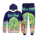 Rick And Morty 3D Print Casual Hoodies & Sweatpants Suit For Boys And Girls