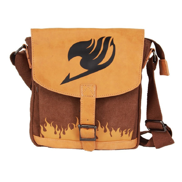 Fairy Tail  Youth Teenagers Cross Shoulder Bag Students School Bags