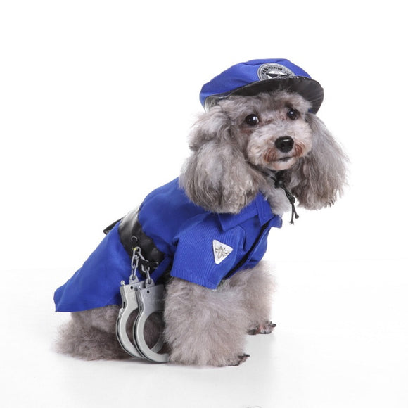 Halloween  Dog Cat  Cap Police Costume Outfits