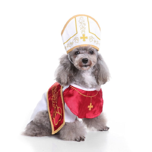 Halloween  Dog Cat Priest Costume Outfits