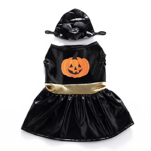 Halloween  Dog Cat Pumpkin Lantern Dress Costume Outfits