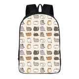 Pusheen Cat 3D Print School Backpack Youth Backack