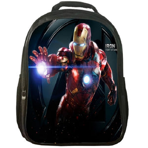Marvel Iron Man Print Backpack School Backpack For Youth