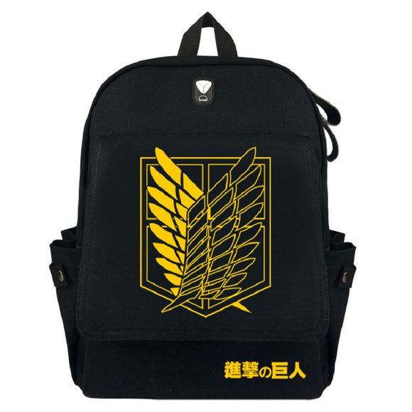 Attack on Titan Shingeki no Kyojin Khaki Students Backpack Fashion Youth Daybag