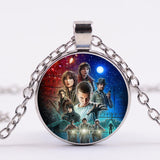 Stranger Things Necklace Glass Photo Pendant Necklace