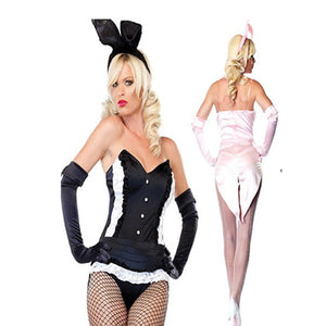 Women Playtime Bunny Halloween Sexy Costume-One Size
