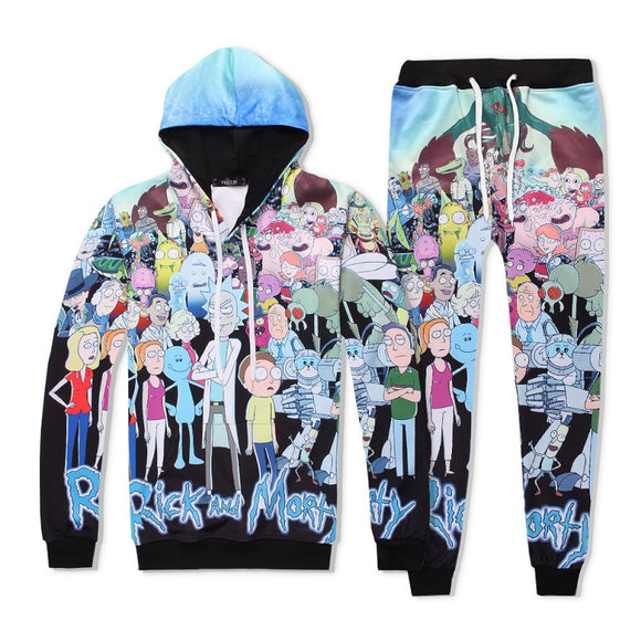 Rick And Morty 3D Print Casual Hoodies & Sweatpants Suit