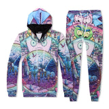 Unisex Rick And Morty 3D Print Pull Over Hoodie And Sweatpants Suit