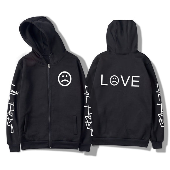 Lil Peep Casual Sweatshirt Zipper Hoodies Jacket