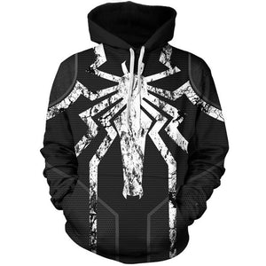Marvel Venom Spider Man Pull Over Hoodies Jacket for Adults and Youth
