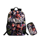 Fortnite 3D Print Full Print Polyester Backpack School Bookbag With Pencial Case