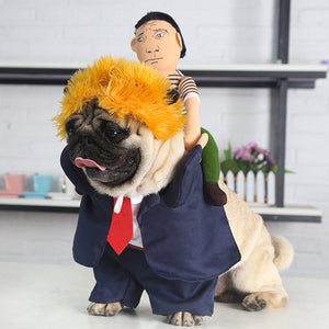 Halloween  Pet Costume Dog Cat Trump Costume Outfits