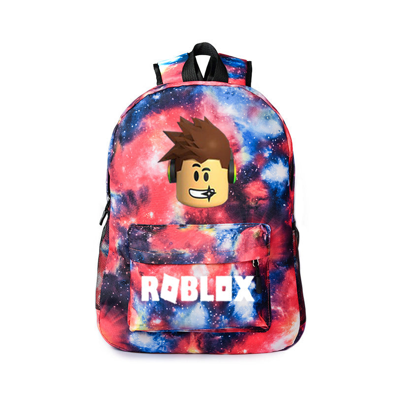 Roblox Galaxy Roblox Print Roblox Galaxy Color School Backpack Bookbag Youth Daybag Mosiyeef