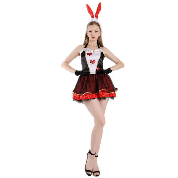Halloween Red Heart Bunny Costume Set