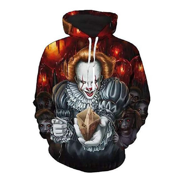 Halloween Hoodies  Joker Face  Print  Hoodies Sweatshirt Unisex