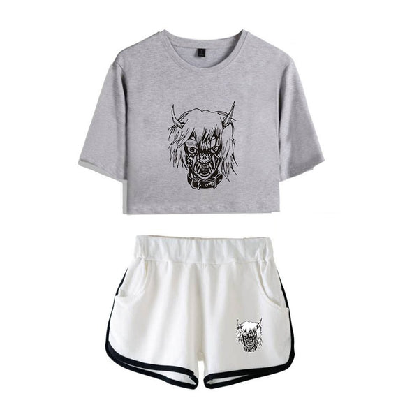 Lil Peep Crop Top and Shorts Suit
