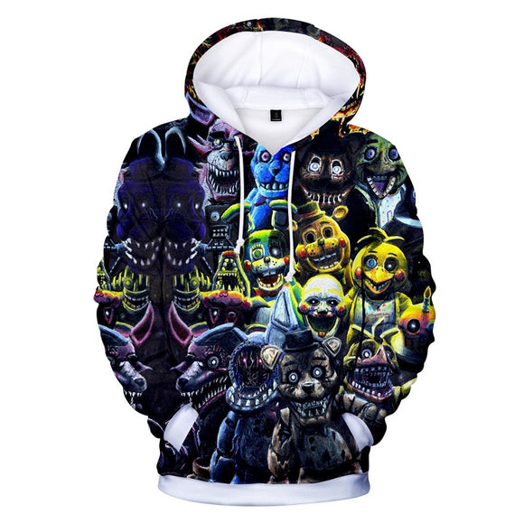 Five Nights at Freddy's Pull Over Hoodies Seratshirt