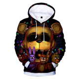 3D Five Nights at Freddy's Comic Print Pullover Drawstring Hoodie