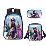 Fortnite 3D Print Backpack School Bookbag With Lunch Bag Pencial Case