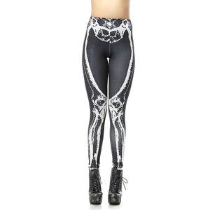 Halloween Leggings  Skeleton Full  Print  Leggings