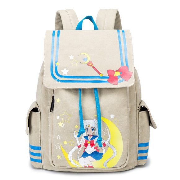 Anime Sailor Moon Teenagers Girls Bookbag Big Capacity School Backpack