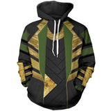 Marvel Avengers Loki  3D Printed Long Sleeve Hoodie Sweatshirt