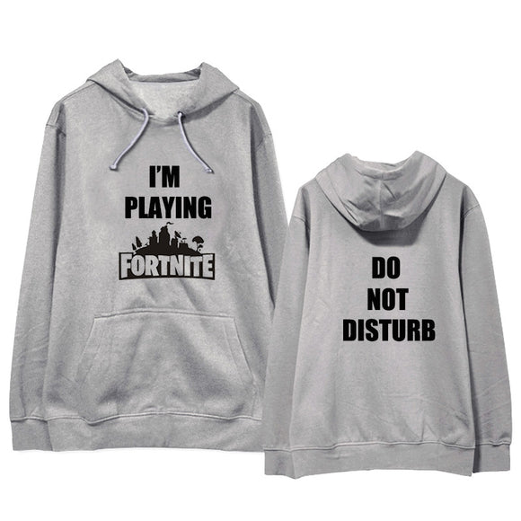 Fortnite I am playing Words Printed Unisex Hoodies