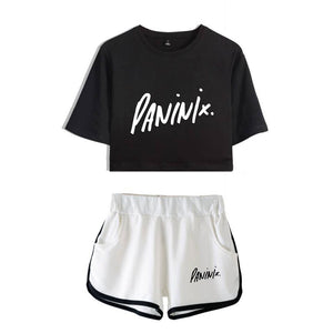 Lil Nas X Singer Polyester T-shirt And Casual Shorts Beach Shorts Suit