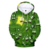 Hot Fashion Rick And Morty 3D Print Casual Long Sleeve Hoodie For Kids