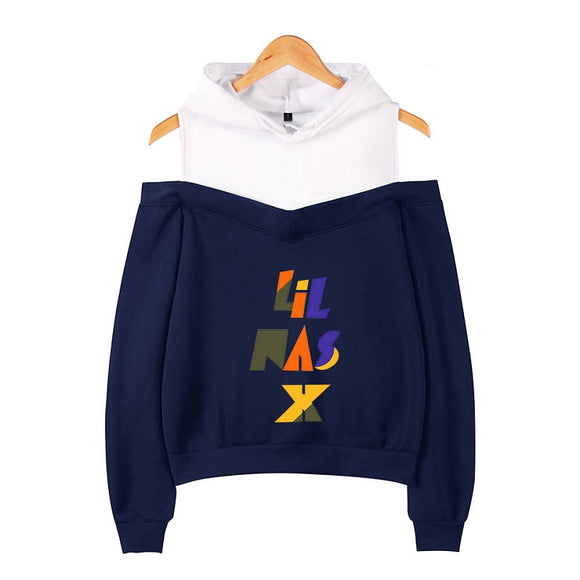 Lil Nas X Sex Off Shoulder Hooded Sweatshirt Hip Hop Hoodies
