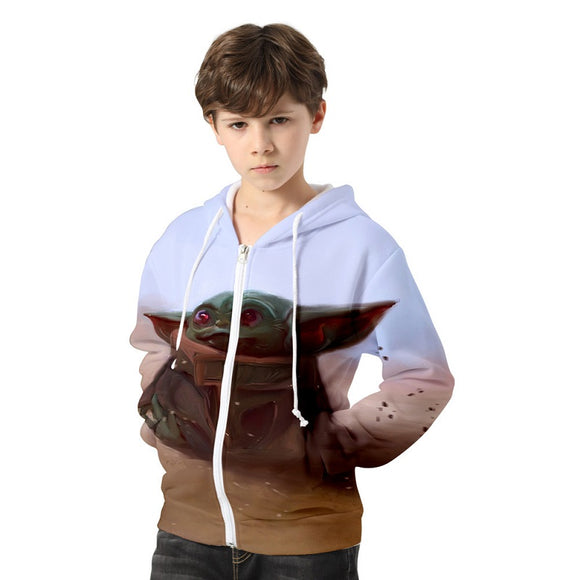 Star Wars The Mandalorian Season 1 Baby Yoda Jacket For Kids