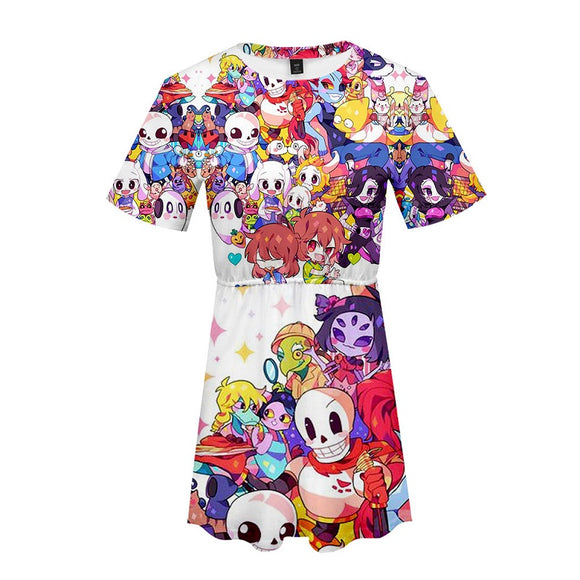 Undertale Girls Women Shirt Dress