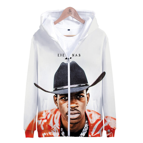Lil Nas X Cardigan Jacket Zipper Hoodie For Adults & Kids