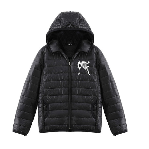 Xxxtentacion 3D White Print Youth Teenagers Fashion Down Jacket