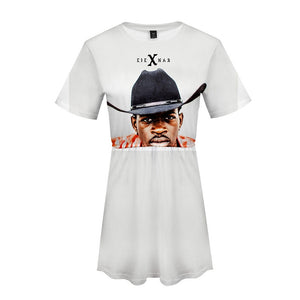 Womans Lil Nas X 3D Print Short Sleeve Dress