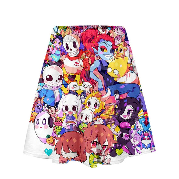 Undertale Girls Women 3D Print Skirt