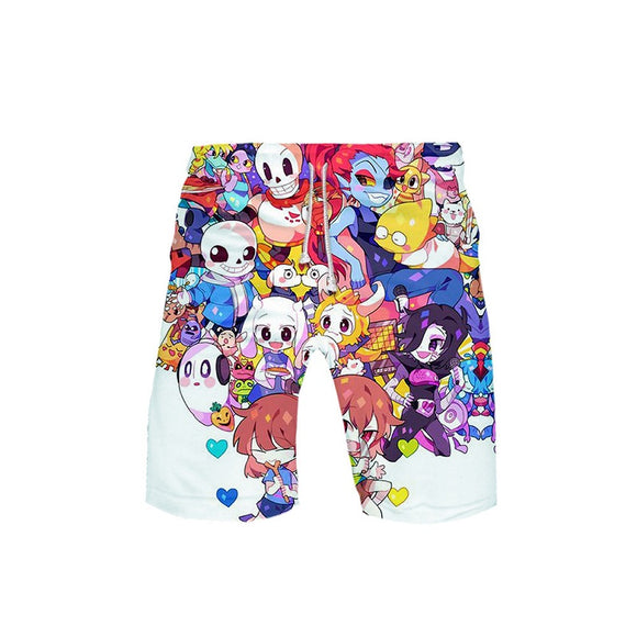 Undertale Boys Mens Caual Shorts Beach Shorts Swim Shorts