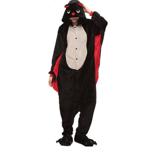 Adult Animal Onesis Pajamas Bat Kigurumi Halloween Cosplay Costume For Men&Women