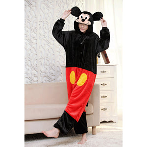Adult Animal Onesis Pajamas Mickey Mouse Kigurumi Halloween Cosplay Costume For Men&Women