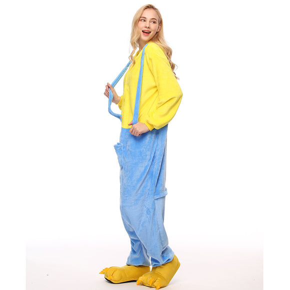 Adult Animal Onesis Pajamas Minions Kigurumi Halloween Cosplay Costume For Men&Women