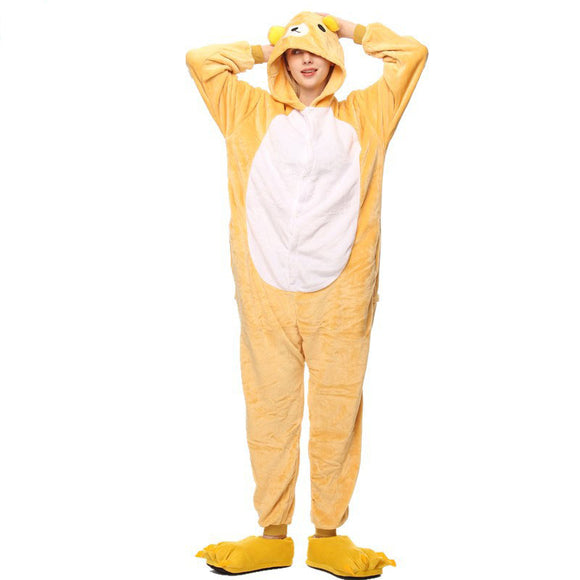 Adult Animal Onesis Pajamas Rilakkuma Kigurumi Halloween Cosplay Costume For Men&Women