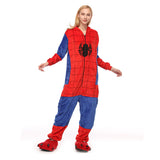 Adult Animal Onesis Pajamas Spider-Man Kigurumi Halloween Cosplay Costume For Men&Women