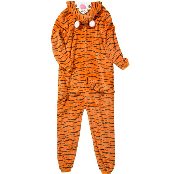 Adult Animal Onesis Pajamas Tiger Kigurumi Halloween Cosplay Costume For Men&Women