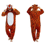 Adult Animal Onesis Pajamas Tigger Kigurumi Halloween Cosplay Costume For Men&Women