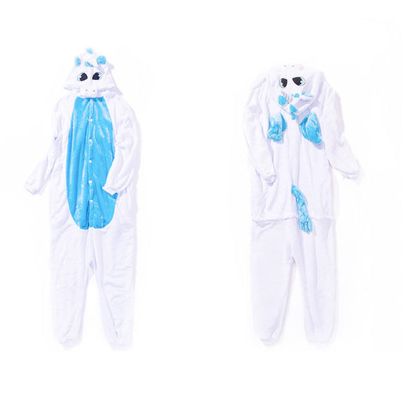 Adult Animal Onesis Pajamas Unicorn Kigurumi Halloween Cosplay Costume For Men&Women