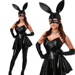 Ariana Grande Halloween Costume For Girls Women Bunny Costume Set